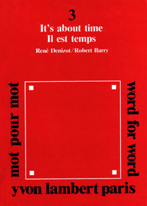 Robert Barry - Word for Word - It\'s about time