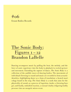 Brandon LaBelle - The Sonic Body - Figures 1-12 (CD)