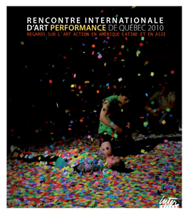 - Rencontre internationale d\'art performance 2010