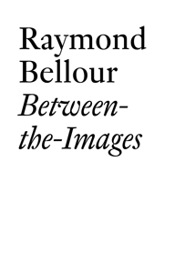 Raymond Bellour - Between-the-Images