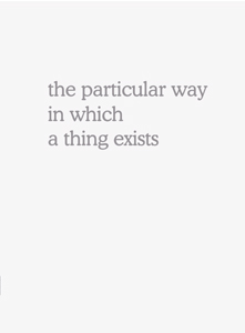 Martin Beck - The particular way in which a thing exists