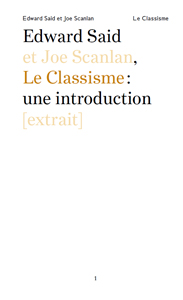 Edward W. Saïd, Joe Scanlan - Le Classisme : une introduction [extrait]