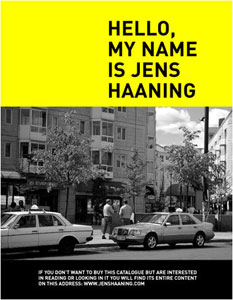 Jens Haaning - Hello, my name is Jens Haaning