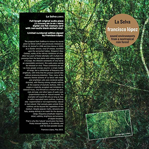 Francisco López - La Selva - Sound Environments from a Neotropical Rain Forest (vinyl LP + USB HD)