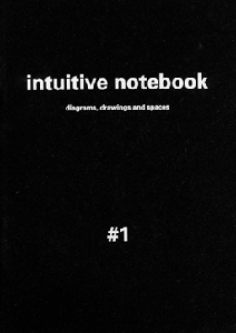 Bastien Gallet - Intuitive Notebook #1 - Diagrams, Drawings and Spaces