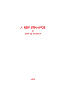 Guy de Cointet - A Few Drawings