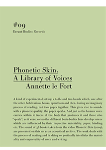 Annette Le Fort - Phonetic Skin - A Library of Voices (CD)