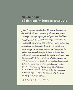 Claude Rutault - Dé-finitions/méthodes - 1973-2016