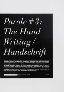 Parole #3 - The Hand Writing / Handschrift