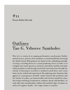 Tao G. Vrhovec Sambolec - Outlines (CD)