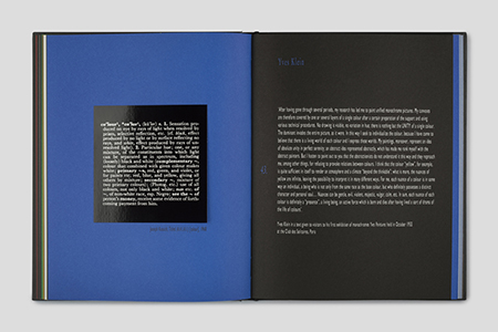 Colour in Contextual Play – An installation by Joseph Kosuth – Works by Enrico Castellani, Lucio Fontana, Yves Klein, Joseph Kosuth, Piero Manzoni