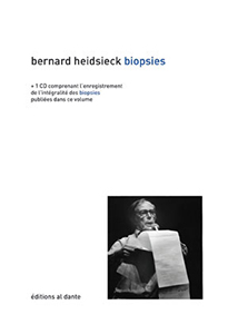 Bernard Heidsieck - Biopsies (+ CD)