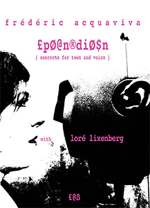 Frédéric Acquaviva - £pØ@n®diØ$n - Concerto for town and voice – With Loré Lixenberg (CD)