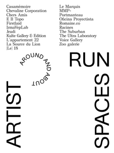 Artist-Run Spaces, around and about - 2012-2015-2017