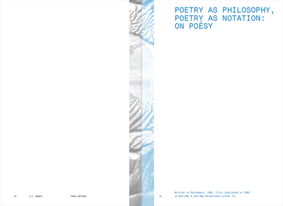 Poësy Matters and Other Matters (2 vol.)