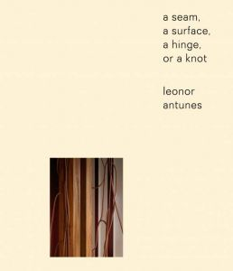 Leonor Antunes - A seam, a surface, a hinge, or a knot