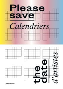 Please save the date! - Calendriers d\'artistes