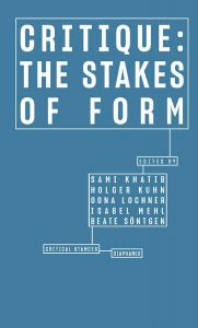 Critique - The Stakes of Form