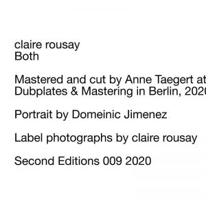 Claire Rousay - Both (vinyl LP)