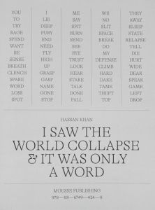 Hassan Khan - I saw the world collapse and it was only a word